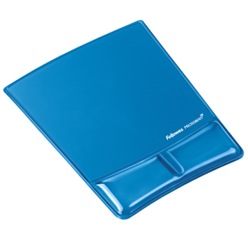 Fellowes Mouse Pad and Wrist Support (Blue)