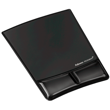 Fellowes Mouse Pad and Wrist Support (Black)