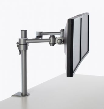 Pluto Dual Monitor Arm (Silver)