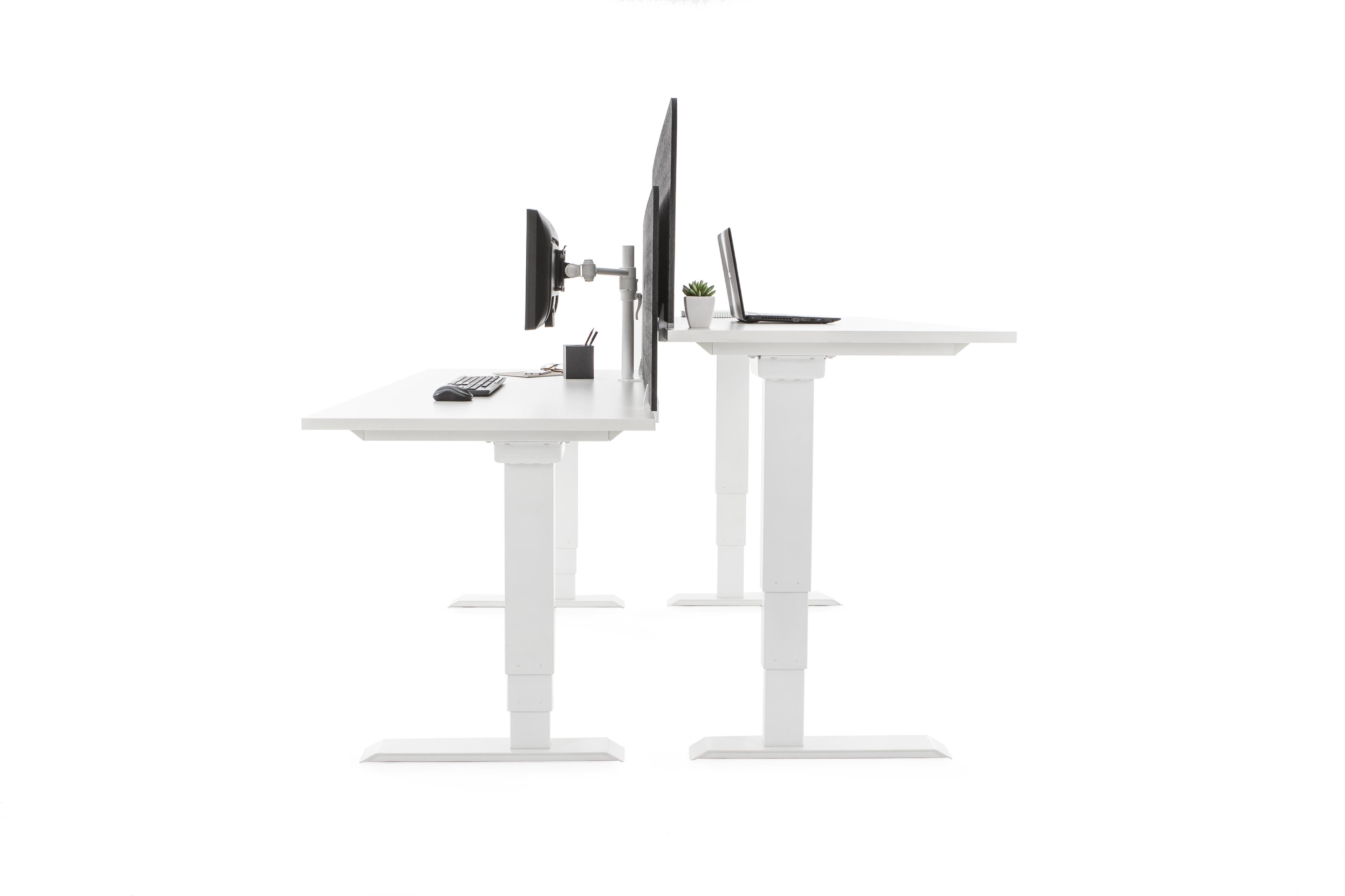 Elevar Rectangular Electric Sit to Stand Workstation