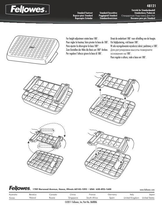Fellowes Standard Footrest Manual