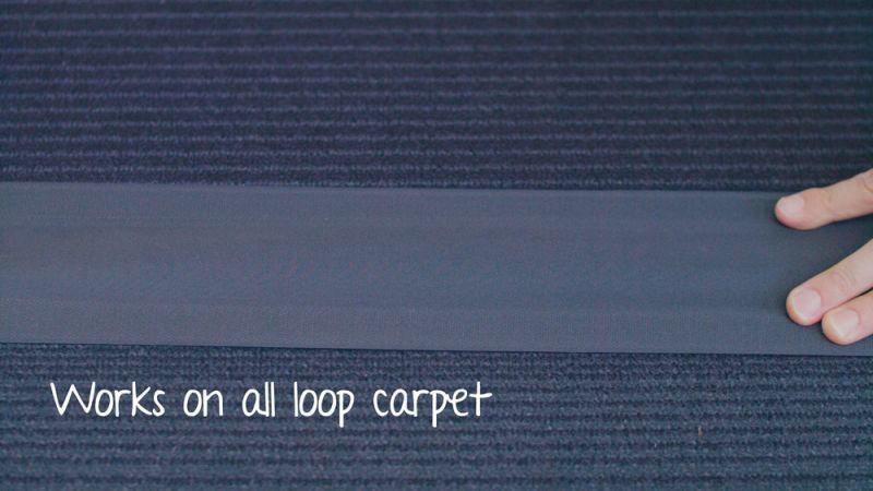 Black Secure Cord on Loop Carpet