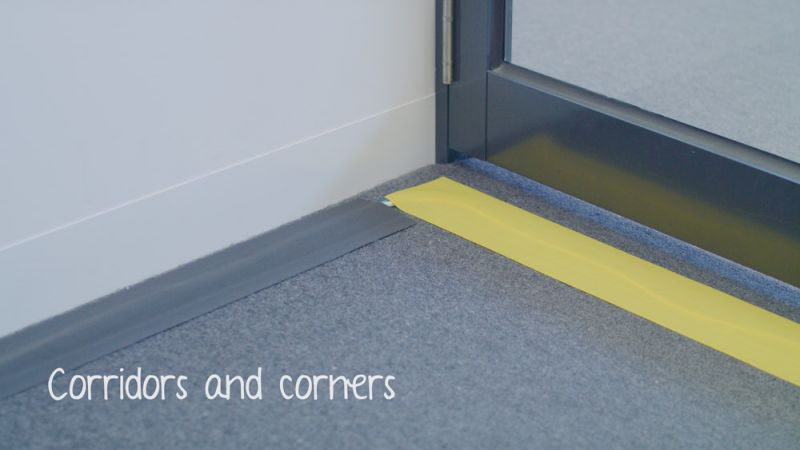 Secure Cord ideal for Corridors and Corners